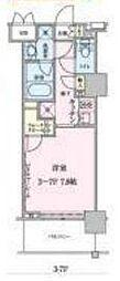 都営大江戸線 六本木駅 徒歩8分の賃貸マンション 4階1Kの間取り