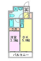 ルネッサンス21博多[7階]の間取り