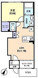 仮)船橋市習志野台新築アパート 1階1LDKの間取り