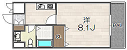 大阪府大阪市福島区海老江2丁目の賃貸マンションの間取り
