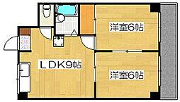 サンライズ日本[6階]の間取り