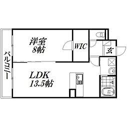 静岡県浜松市中区布橋3丁目の賃貸マンションの間取り