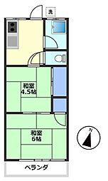 コーポ栄[2階]の間取り