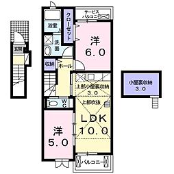 メゾンドカルム[2階]の間取り