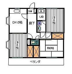 神奈川県相模原市中央区由野台2丁目の賃貸アパートの間取り