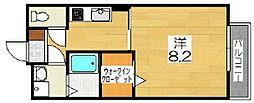 グラシューズメゾンII[2階]の間取り