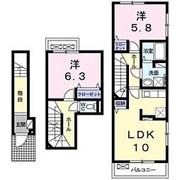 大阪府大阪市西成区千本南2丁目の賃貸アパートの間取り