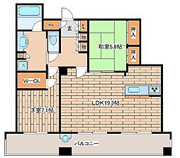 兵庫県神戸市中央区八幡通4丁目の賃貸マンションの間取り