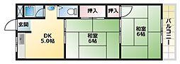 サンライフ平野[305号室]の間取り