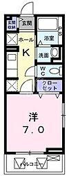 鷹匠町アパート[1-2020号室]の間取り