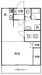 緑ヶ丘マンションB[208号室]の間取り