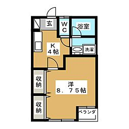 KHパレス[2階]の間取り