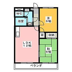 ストークハウス岩崎A[2階]の間取り