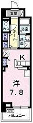 JR伯備線 北長瀬駅 徒歩17分の賃貸マンション 1階1Kの間取り