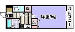 JR山陽本線 西川原駅 徒歩9分の賃貸マンション 1階1Kの間取り