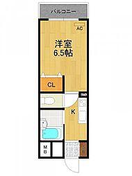 MOMO武庫之荘[3階]の間取り