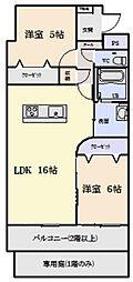 三重県松阪市市場庄町の賃貸マンションの間取り