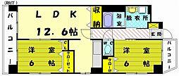 ホクリマンション[4階]の間取り