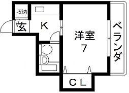 初菊マンション[2号室号室]の間取り