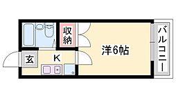 兵庫県姫路市飾磨区西浜町3の賃貸アパートの間取り