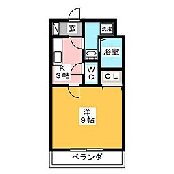 サリエンテ代官山II[1階]の間取り
