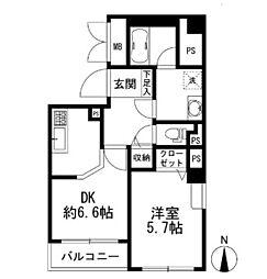 神奈川県横浜市西区戸部町5丁目の賃貸マンションの間取り