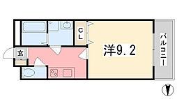 ルミナス・ナカヤ[303号室]の間取り