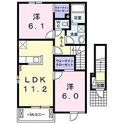ベルデドゥ[2階]の間取り