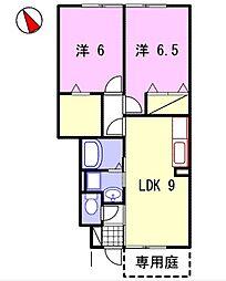 コンフォート佐良和II[1階]の間取り