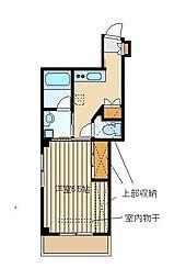 東京都練馬区東大泉6の賃貸マンションの間取り