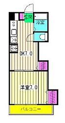 冬木マンション[5階]の間取り