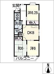 グリーンパークOH92 A棟[1階]の間取り