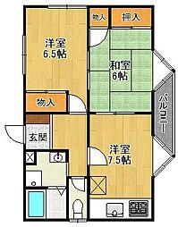 ドムールコスモス武庫之荘[2階]の間取り
