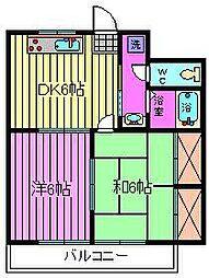 グリーンシャトーハマダI[4階]の間取り