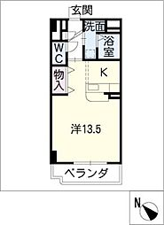 ブルースカイマンションV[1階]の間取り