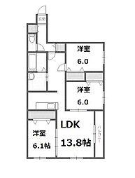 北海道札幌市西区琴似三条5丁目の賃貸マンションの間取り