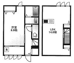 [テラスハウス] 東京都杉並区和田3丁目 の賃貸【/】の間取り
