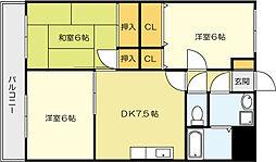 小文字幹線ビル[7階]の間取り