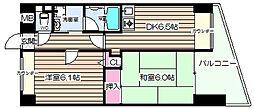 阪神ハイグレードマンション10番館[3階]の間取り