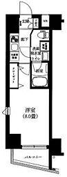 ティモーネ上野の森ノルド 6階1Kの間取り