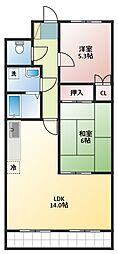 飯島ハイツA[2階]の間取り