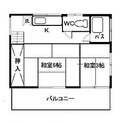 鈴木アパート[202号室号室]の間取り