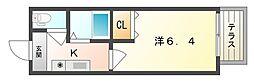 寝屋川菊池ハイツ[1階]の間取り
