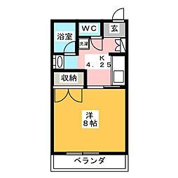 三村ハイツ[3階]の間取り