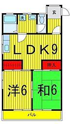 東京都足立区綾瀬4丁目の賃貸マンションの間取り