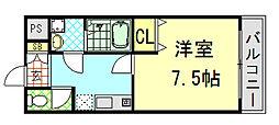 シエテ東大阪[305号室]の間取り