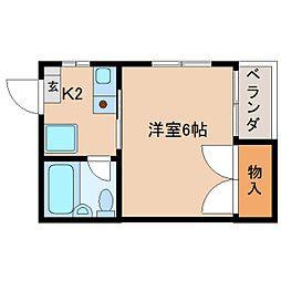 静岡県静岡市清水区上1丁目の賃貸アパートの間取り