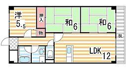 レイグラウンド[2階]の間取り