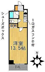 愛知県名古屋市千種区星が丘元町の賃貸マンションの間取り