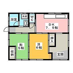 [一戸建] 静岡県焼津市本町4丁目 の賃貸【/】の間取り